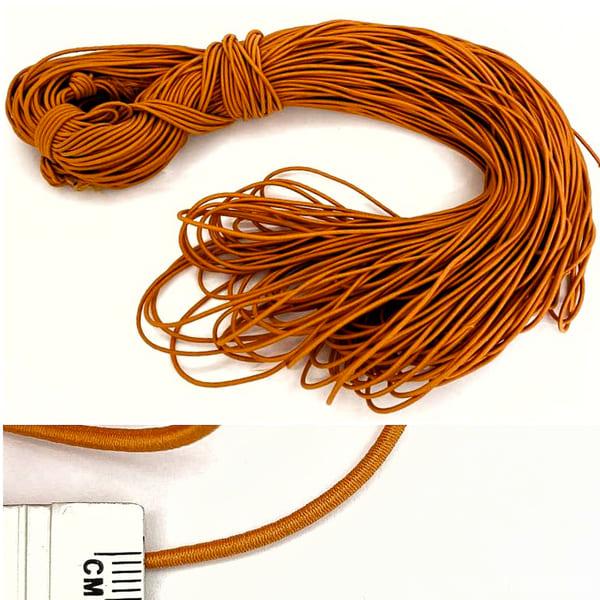 Канат -резинка, оранжевая, 100 м