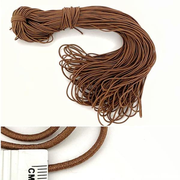 Канат -резинка, капучино, 100 м