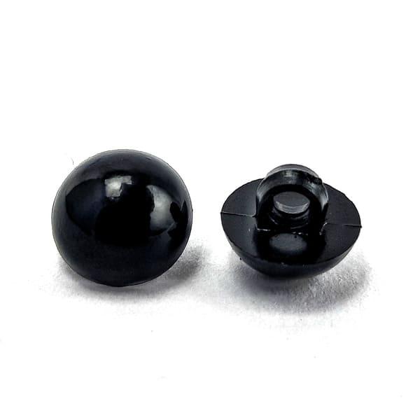 пуговица жемчужина черная, 10 мм