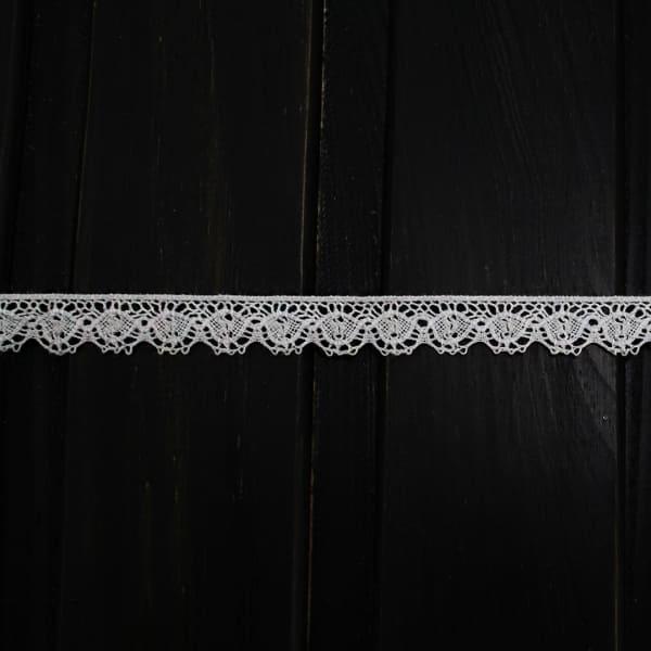 Кружево Кроше белое, 1 см