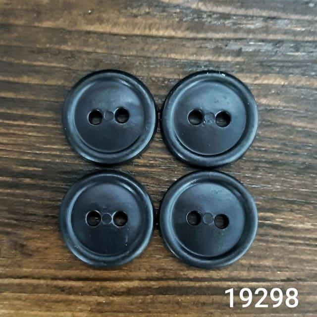 Пуговица литая черная, 20 мм