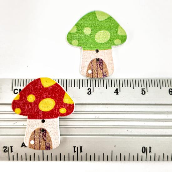 Деревянный декор гриб 22х25