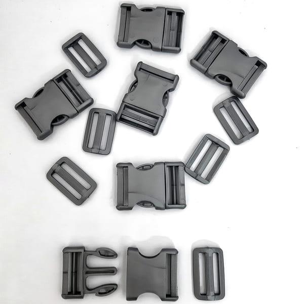 фастекс с рамкой серый, 4 см