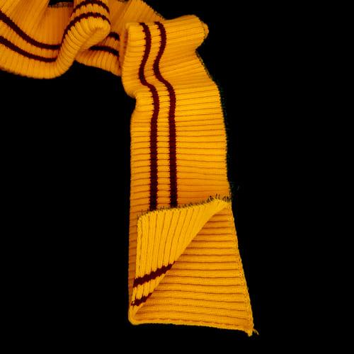резинка довяз, желтая + 2-красных полоски