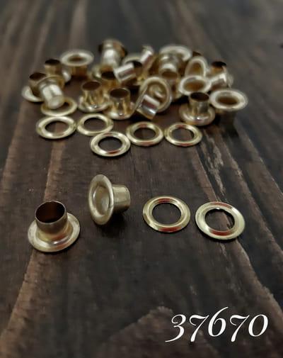 блочка золото, 4 мм с кольцом, антимагнит