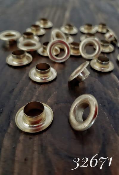 блочка золото, 8 мм
