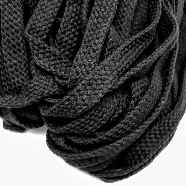 канат х/б  плоский 15 мм, черный