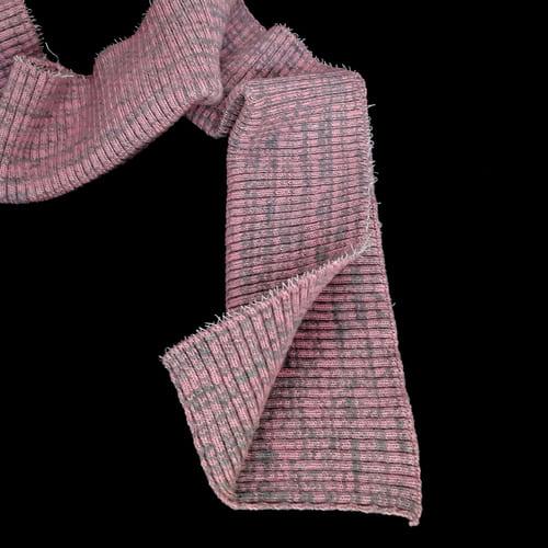 резинка довяз, розово-серый меланж