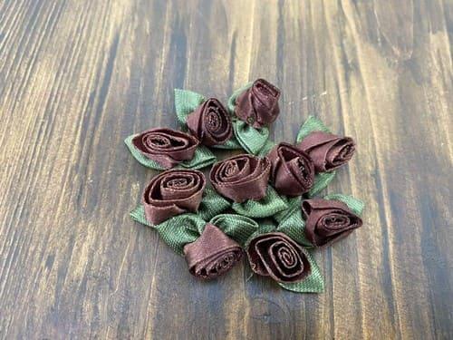 аппликация - роза с двумя листиками