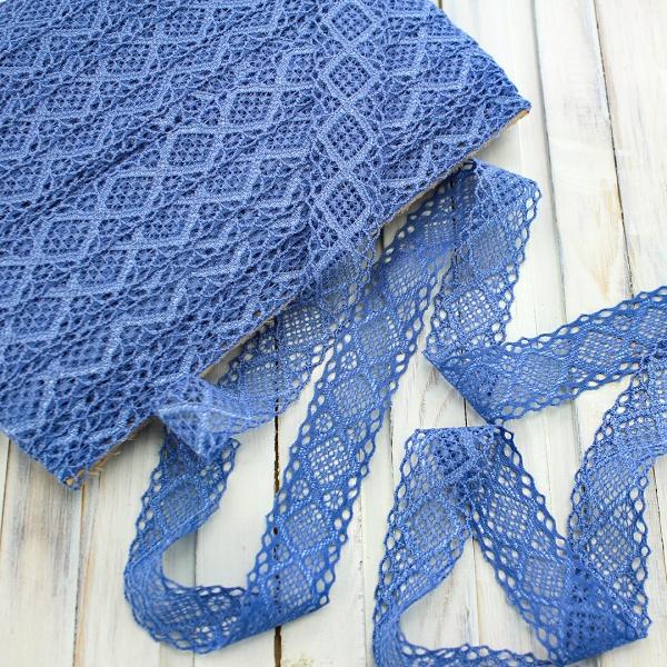 кружево сиренево-голубое, 2 см
