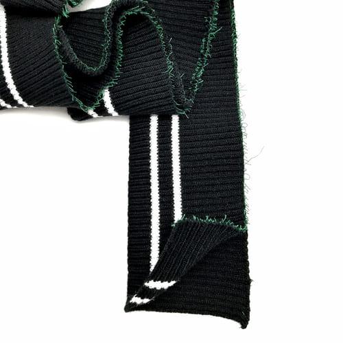 Резинка манжетная довяз, черная с полоской