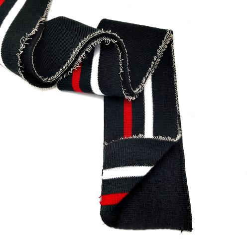 резинка довяз ластик, черная + красная и белая полоска
