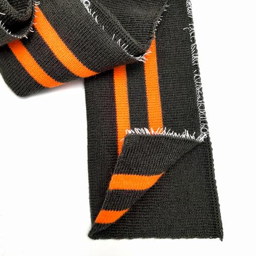 Резинка манжетная довяз, хаки + 2 оранжевых полоски