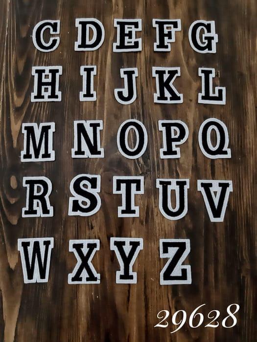 аппликация Английские буквы, черные