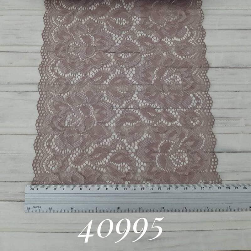 Кружево французское, розовое какао 22 см