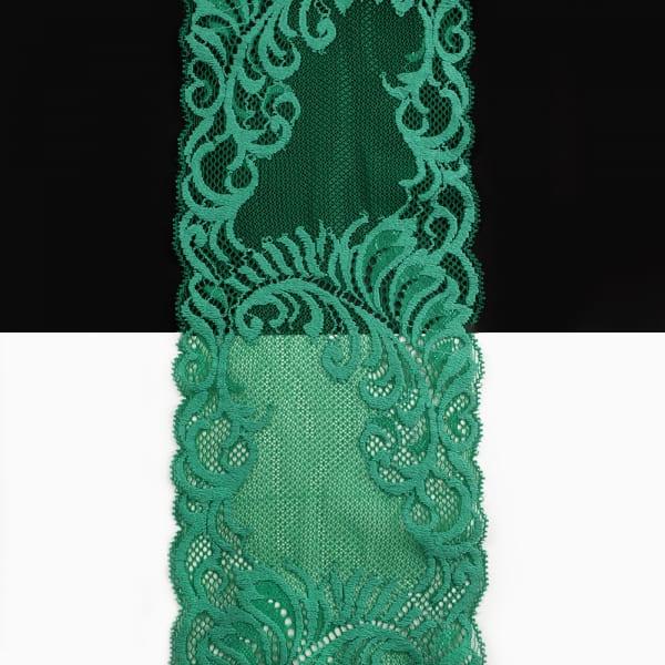 Кружево Италия зеленое, 14 см