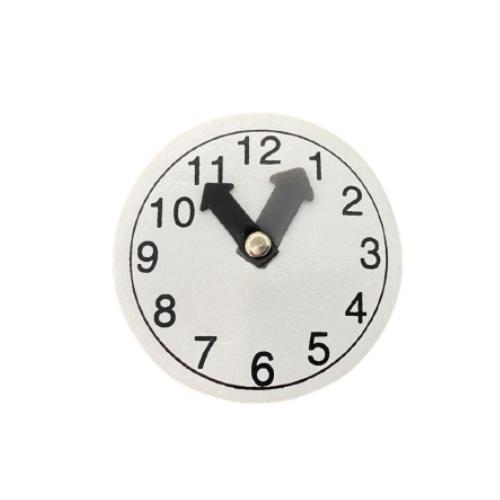бирка-резинка часы белые, 6.5 см