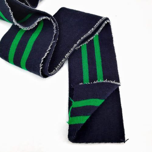 резинка довяз ластик, синяя с зеленой полоской