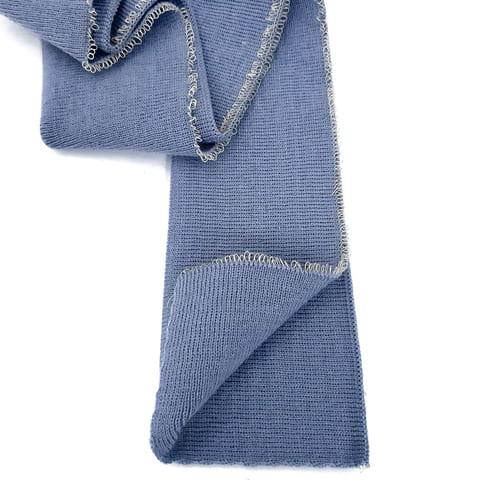 Резинка манжетная довяз, серо-голубая