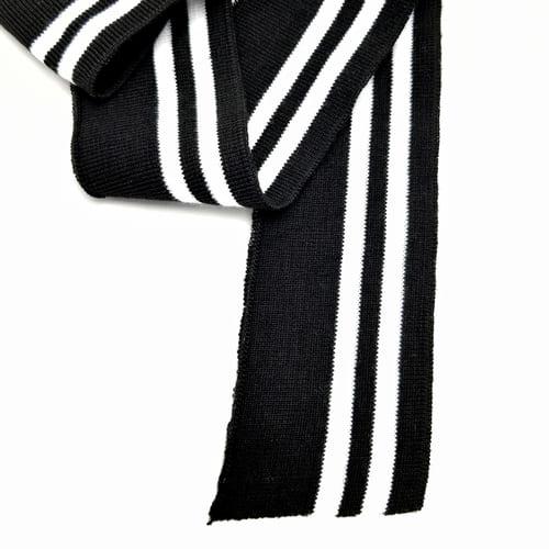 Резинка довяз ластик,черная с белыми полосками