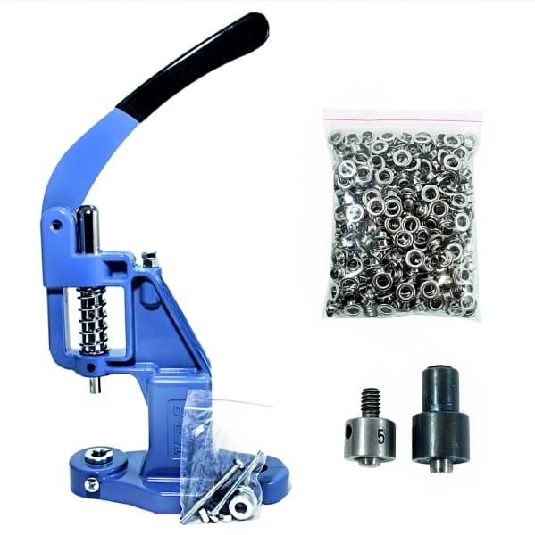 Комплект для профессиональной установки блочки (люверса) 8 мм