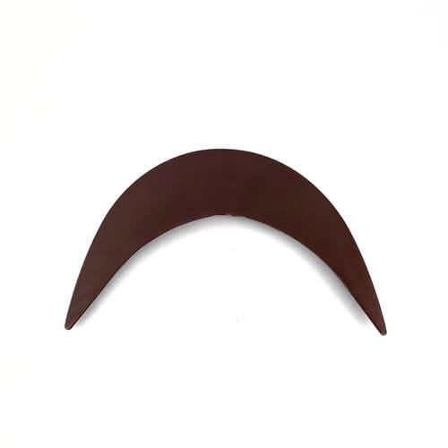 козырек коричневый, 5,5х21 см
