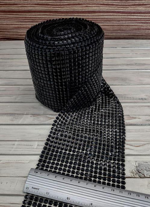 Лента черные кубы, 12 см