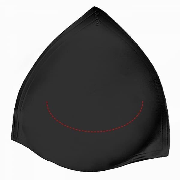 Чашка треугольная черная размерная