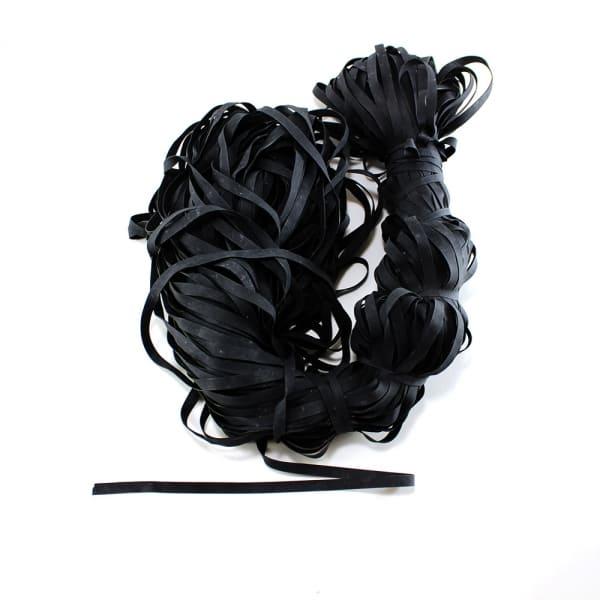 Резинка для купальника черная, 6 мм