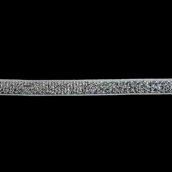Резинка для бретель черная+серебряная, 1 см