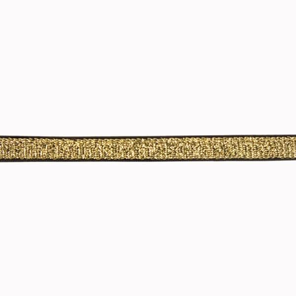Резинка для бретель черная+золото, 1 см