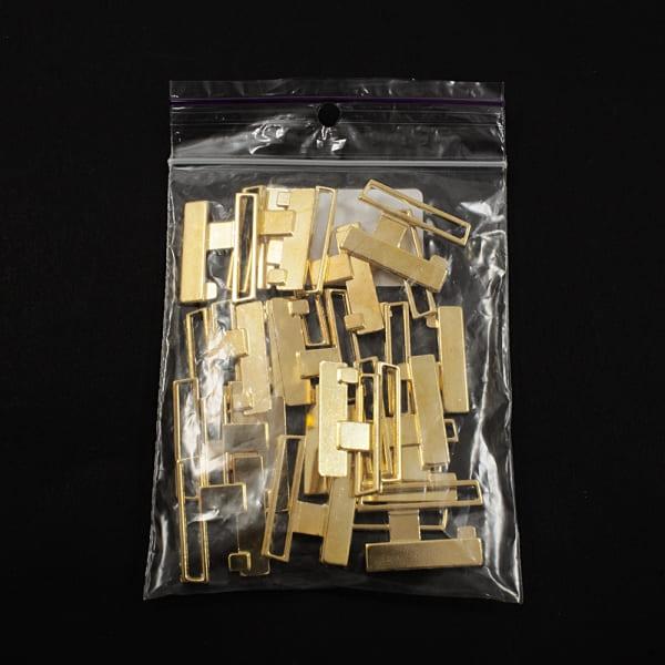 Застежка для купальника, золото, 2.5 см