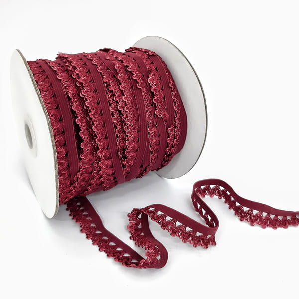 Резинка ажурная бельевая бордо, 14 мм