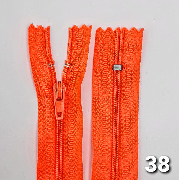 молния пластик  18 см 4х4