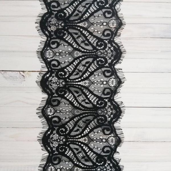 кружево ТТ шантильи, черное 13 см