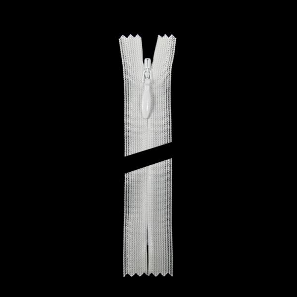 Молния YKK белая потайная, 70 см