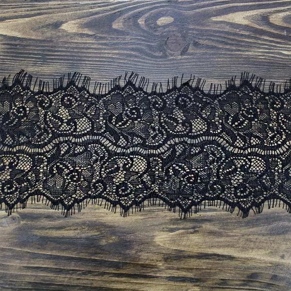 кружево Zira шантильи, черное 11 см