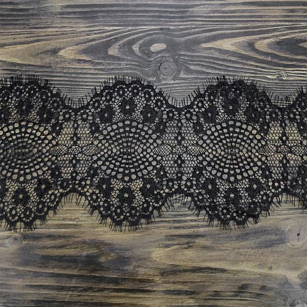 Кружево Zira шантильи, черное 13 см