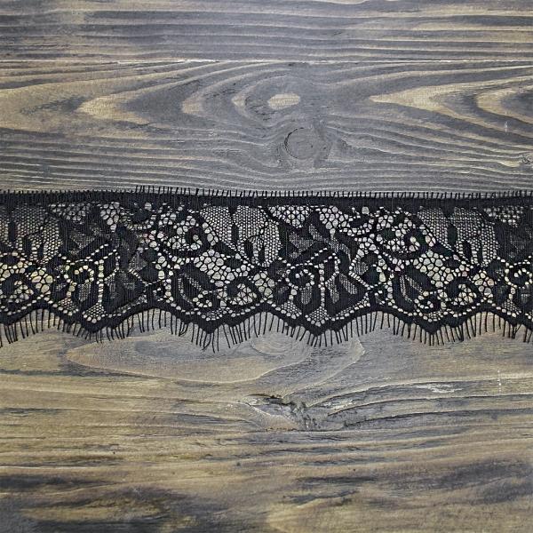 кружево Zira шантильи, черное  6 см