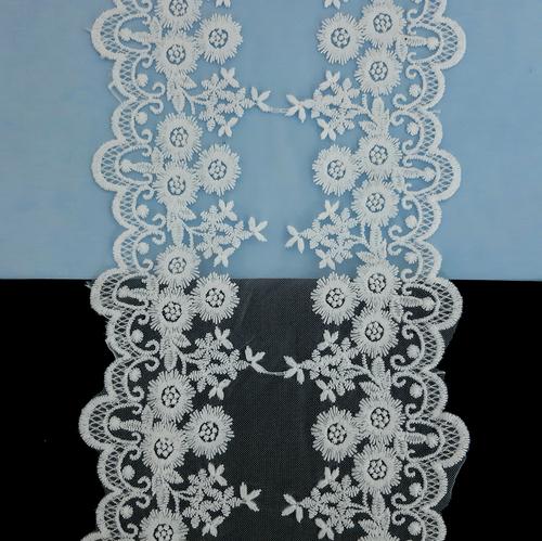 Кружево белое на сетке 10,5-14 см