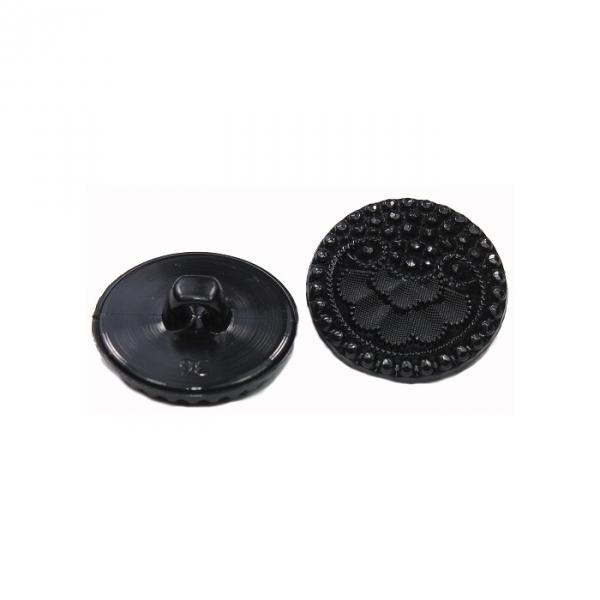 Пуговица чёрная, 23 мм