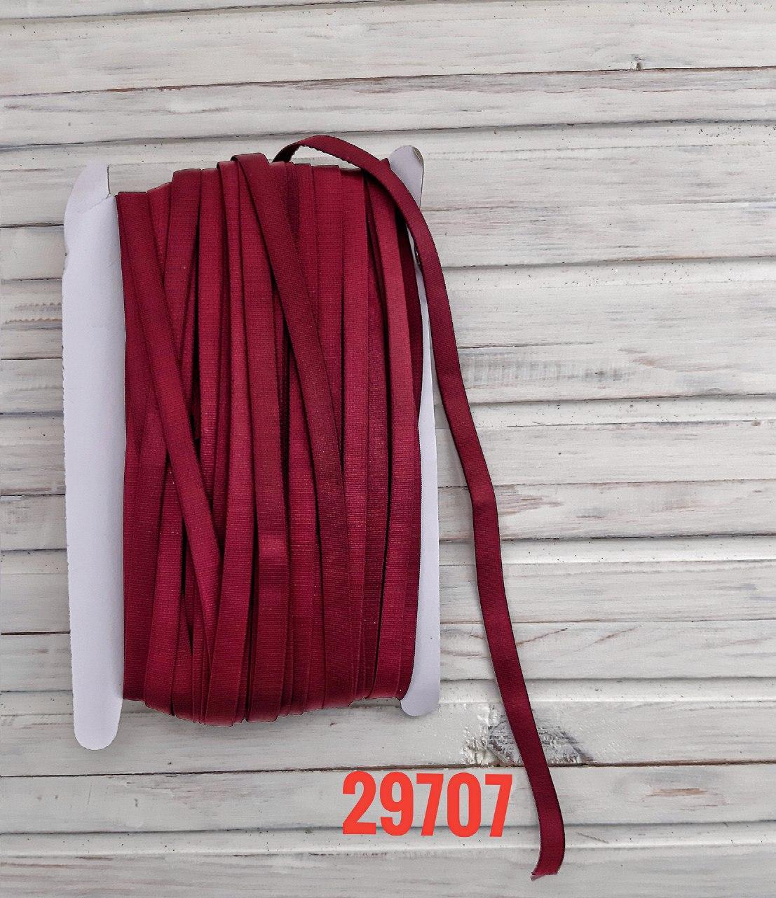 Резинка для бретель бордовая, 1 см