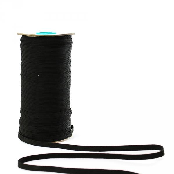 Резинка бельевая черная, 7 мм