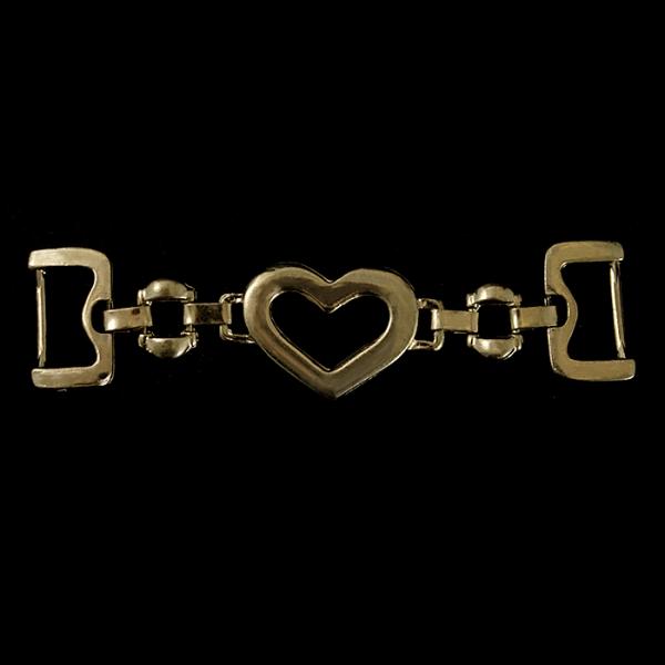 Украшение удлиненное с сердечком, золото