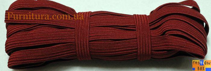 Резинка бельевая бордовая, 1см