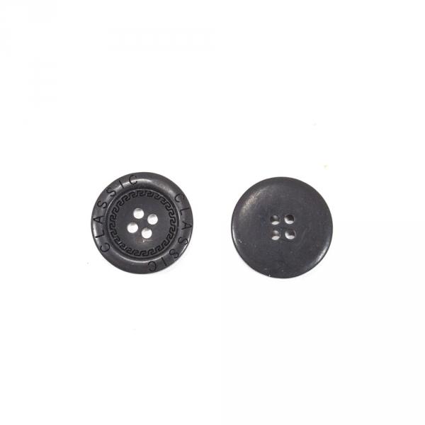 Пуговица черная, 25 мм