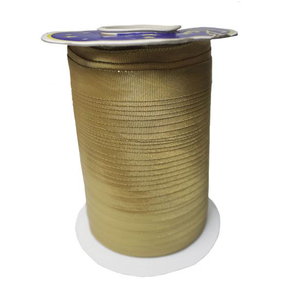 Косая бейка из парчи, золото, 15 мм