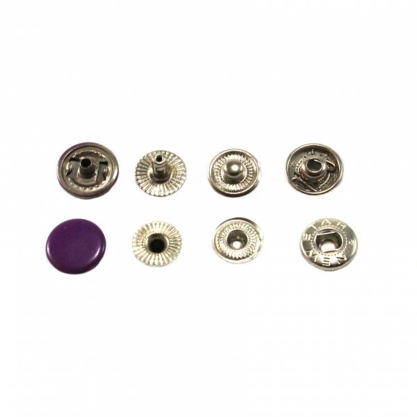 Кнопка маленькая фиолетовая, 15 мм