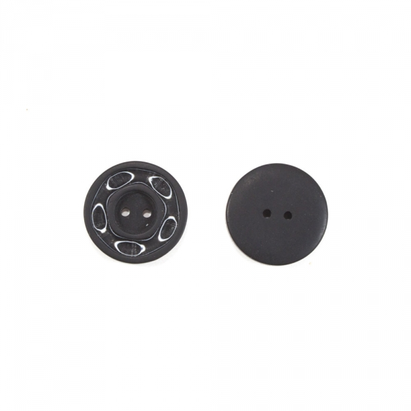 Пуговица черная, 28 мм