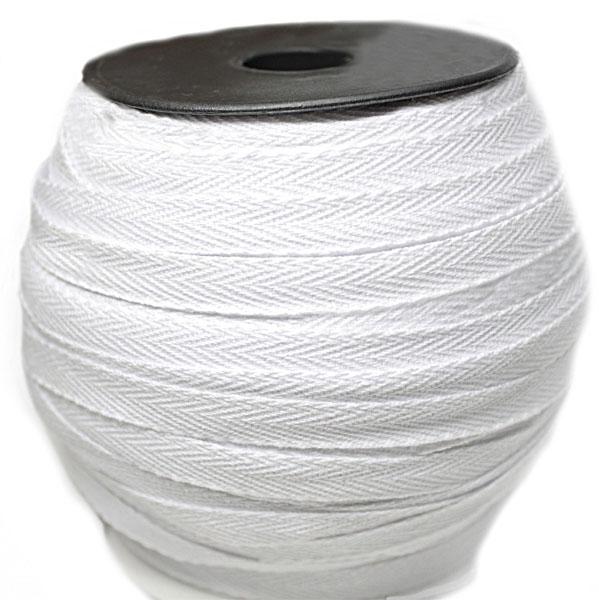 Тесьма х/б (киперная) белая, 10мм